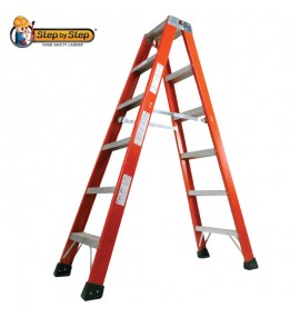 Fiberglass Double Sided A Shape Ladder