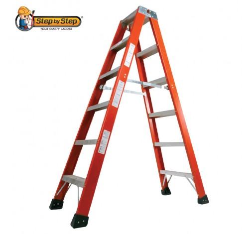 Fiberglass Double Sided A Shape Ladder