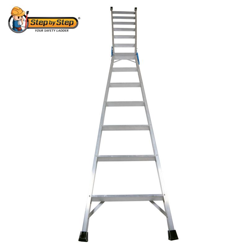 Aluminium Dual Purpose Step Ladder Two Way Ladder