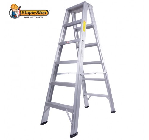 Aluminium Double-Sided-A-Shape Step Ladder