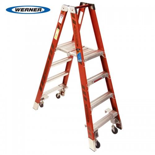 Fiberglass Platform Ladder w/casters PT7400-4C