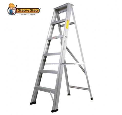 Aluminium Single-Sided-A-Shape Step Ladder